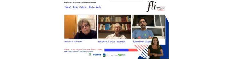"""""""É importante ler João Cabral e não ter medo"""", disse Schneider Carpeggiani em mesa sobre o patrono do IX Fliaraxá"""