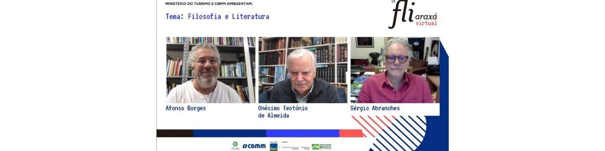 Onésimo Teotónio de Almeida e Sérgio Abranches discutem a relação entre filosofia e literatura