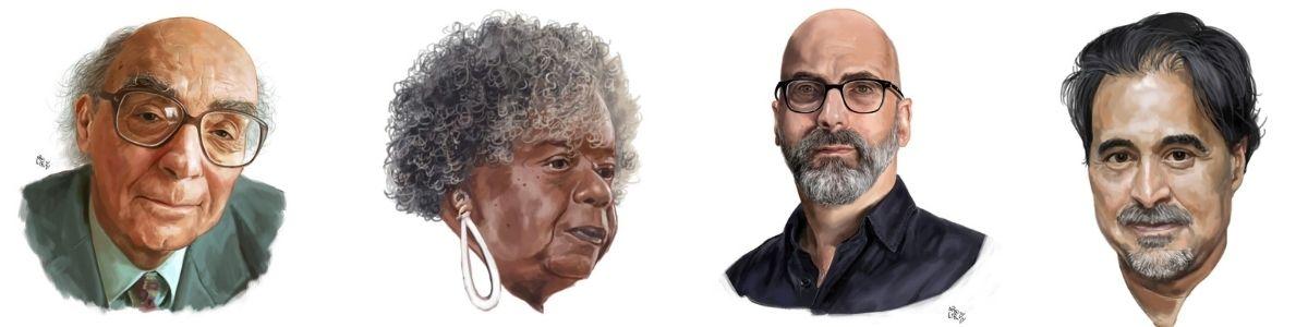 """Exposição """"Retratos do Aroeira"""" conta história do Fliaraxá em retratos de escritores"""