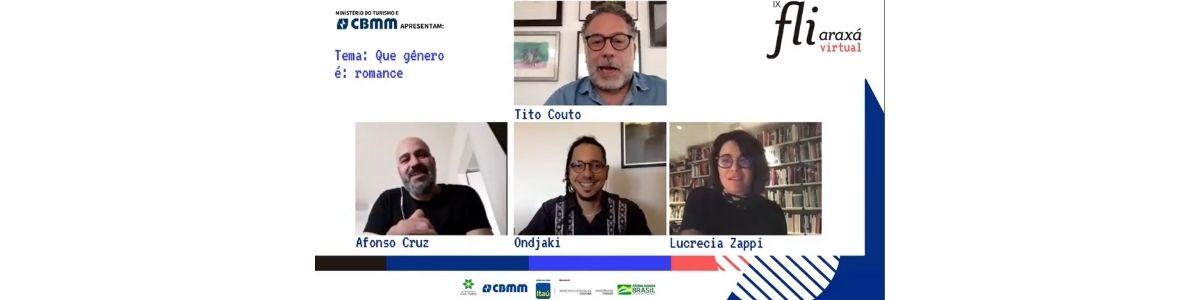 """""""Não há nenhuma obra literária que não seja política"""", diz Afonso Cruz em mesa com Ondjaki e Lucrecia Zappi"""